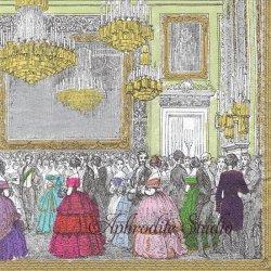 The Devonshire Ball デボンシャー舞踏会 Chatsworth House 1枚 ばら売り 33cm ペーパーナプキン Caspari カスパリ