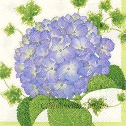 廃盤 HYDRANGEA 2色の紫陽花 Karen Fjord Kjaersgaard 1枚 ばら売り 33cm ペーパーナプキン デコパージュ用 Caspari カスパリ