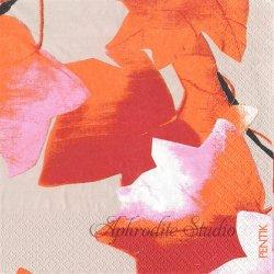 北欧 ペンティック VAAHTERA メープルリーフ オレンジ 1枚 ばら売り 33cm ペーパーナプキン PENTIK