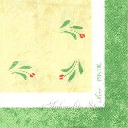 北欧 廃盤 ペンティック AINO 小さな赤い花 1枚 ばら売り 33cm ペーパーナプキン PENTIK