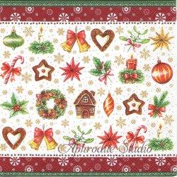 廃番 CHRISTMAS PARTS クリスマスアイテム 1枚 ばら売り 33cm ペーパーナプキン Ambiente