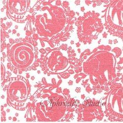 25cm ミハニ書林 花綱にかこまれて ピンク 倉敷意匠計画室 1枚 バラ売り ペーパーナプキン デコパージュ用  classiky