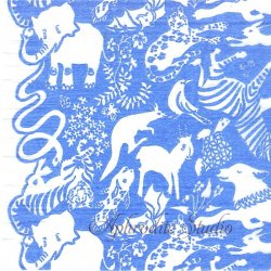 25cm ミハニ書林 なかま ブルー 倉敷意匠計画室 1枚 バラ売り ペーパーナプキン デコパージュ用  classiky