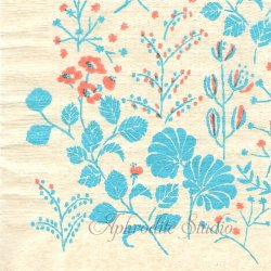 25cm 点と線模様研究所 静寂の中の植物・無漂白 北の模様帖 倉敷意匠計画室 1枚 バラ売り ペーパーナプキン デコパージュ用  classiky