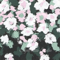 24cm 北欧 フィンレイソン LEINIKKI グリーン お花 1枚 バラ売り ペーパーナプキン 紙ナプキン デコパージュ Finlayson