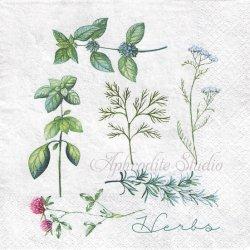 Herbary ハーブ 1枚 バラ売り 33cm ペーパーナプキン デコパージュ Nouveau