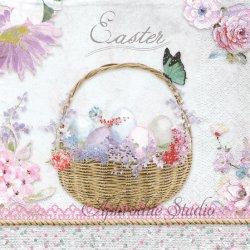 Pastel Easter パステル 花でいっぱいのイースター 1枚 バラ売り 33cm ペーパーナプキン デコパージュ Nouveau