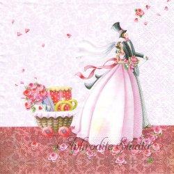 Lucky Day 結婚式 記念日 1枚 バラ売り 33cm ペーパーナプキン デコパージュ Nouveau