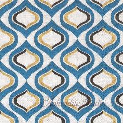 北欧柄 Pattern Blue ブルー デザイン模様 1枚 バラ売り 33cm ペーパーナプキン デコパージュ Nouveau