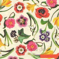 エマ・ブリッジウォーター NEW FLOWERS カラフルなお花 Emma Bridgewater 1枚 バラ売り 33cm ペーパーナプキン デコパージュ Ihr