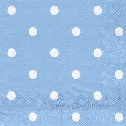 25cm 廃盤 キャス・キッドソン LARGE SPOT ブルー ドット 1枚 バラ売り ペーパーナプキン デコパージュ Cath Kidston Ihr