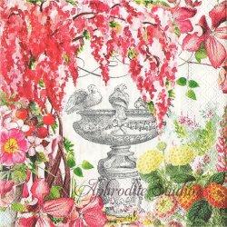 25cm IN THE GARDEN 花の庭 1枚 バラ売り ペーパーナプキン デコパージュ用 MICHEL DESIGN WORKS