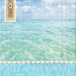 BEACH 写真 ビーチ 浜辺 1枚 バラ売り 33cm ペーパーナプキン デコパージュ MICHEL DESIGN WORKS