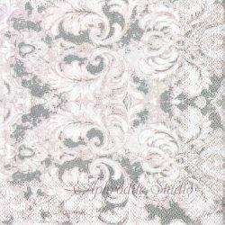 EARL GRAY グレー スワール模様 1枚 バラ売り 33cm ペーパーナプキン デコパージュ MICHEL DESIGN WORKS