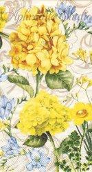 33x40cm TRANQUILITY 黄色い紫陽花 1枚 バラ売り ペーパーナプキン デコパージュ MICHEL DESIGN WORKS