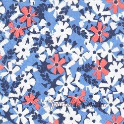 北欧 フィンレイソン AINIKKI ブルー お花 ペーパーナプキン 1枚 33cm デコパージュ バラ売り 北欧 Finlayson Suomen Kerta