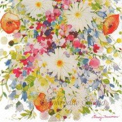 北欧 ハヴィ Minna Immonen マーガレットの花束 1枚 バラ売り 33cm ペーパーナプキン havi Suomen Kerta