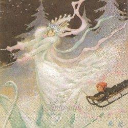 北欧 ハヴィ Rudolf Koivu 雪の女王 1枚 バラ売り 33cm ペーパーナプキン havi Suomen Kerta