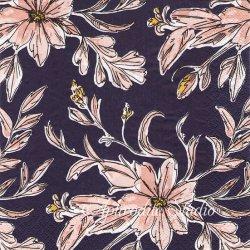 北欧 ハヴィ Indigo Garden ネイビー お花 HAVI'S 1枚 バラ売り 33cm ペーパーナプキン デコパージュ havi Suomen Kerta