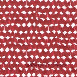 北欧 ハヴィxサムイ TAITE レッド Samuji 1枚 バラ売り 33cm ペーパーナプキン デコパージュ havi Suomen Kerta