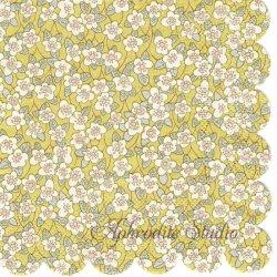 25.5cm リバティ Ffion イエロー 小花柄 1枚 バラ売り ペーパーナプキン デコパージュ LIBERTY OF LONDON Meri Meri