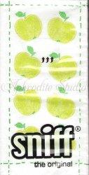1パック10枚入 Fashion Apples ちびちび青りんご 21.5cm角 ポケットペーパーハンカチ 紙ハンカチ Ihr