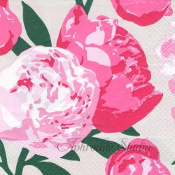 北欧 ペンティック PIONI ピンク ピオニー 芍薬 1枚 バラ売り 33cm ペーパーナプキン PENTIK