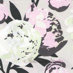 北欧 ペンティック PIONI パステル ピオニー 芍薬 1枚 バラ売り 33cm ペーパーナプキン PENTIK