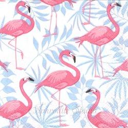 Flamingo garden トロピカルなフラミンゴ柄 1枚 バラ売り 33cm ペーパーナプキン デコパージュ用 Paper+Design