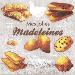 MADELEINES マドレーヌ 1枚 バラ売り 33cm ペーパーナプキン デコパージュ用 Ambiente