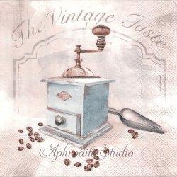 VINTAGE TASTE コーヒーミル 1枚 バラ売り 33cm ペーパーナプキン デコパージュ用 Ambiente