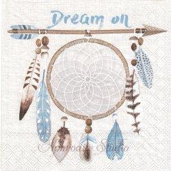 DREAM ON ドリームキャッチャー 羽根 1枚 バラ売り 33cm ペーパーナプキン デコパージュ用 Ambiente