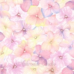 <img class='new_mark_img1' src='https://img.shop-pro.jp/img/new/icons55.gif' style='border:none;display:inline;margin:0px;padding:0px;width:auto;' />Pink Hydrangea Pattern ピンクの紫陽花の花びら 1枚 バラ売り 33cm ペーパーナプキン Daisy