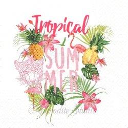 TROPICAL SUMMER トロピカルな夏アイテム 1枚 バラ売り 33cm ペーパーナプキン TETE a TETE