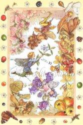 クロモス 廃盤品 フラワーフェアリーズ 秋の花と妖精 シシリー・メアリー・バーカー  1枚 【2060】 ステッカー シール イギリス製 Flower Fairies