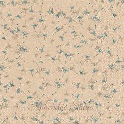 Dandelion rain たんぽぽ綿毛の雨 1枚 バラ売り 33cm ペーパーナプキン デコパージュ Natural
