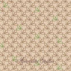 Leaf pattern 葉っぱのパターン模様 1枚 バラ売り 33cm ペーパーナプキン デコパージュ Natural