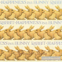 廃盤 エマ・ブリッジウォーター HAPPINESS IS A BUNNY 兎 うさぎ バニー ラビット Emma Bridgewater 1枚 バラ売り 33cm ペーパーナプキン Ihr