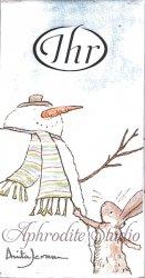 1パック10枚入 アニタ・ジェラーム HELLO SNOWMAN ハロー!スノーマン Anita Jeram 21.5cm角 ポケットペーパーハンカチ 紙ハンカチ Ihr