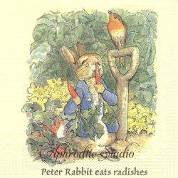 レア柄 コレクター必見 ピーターラビット にんじん Beatrix Potter 1枚 バラ売り 33cm ペーパーナプキン デコパージュ PETER RABBIT