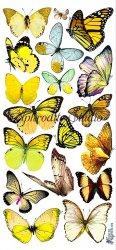 黄色い蝶のステッカー 1シート ヴィクトリアン シール ラベル ビクトリアン Victorian ラッピング