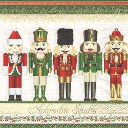 NUTCRACKER ナッツクラッカー くるみ割り人形 クリスマス 1枚 バラ売り 33cm ペーパーナプキン デコパージュ用 MICHEL DESIGN WORKS