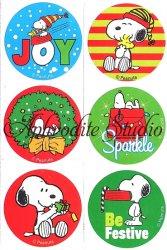 スヌーピー ステッカー クリスマス 6種1セット シール キャラクター ラベル ラッピング SNOOPY Peanuts