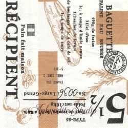 オーサムストア Bakery ベーカリー パンと文字 1枚 バラ売り 33cm ペーパーナプキン デコパージュ用 紙ナプキン  AWESOME STORE