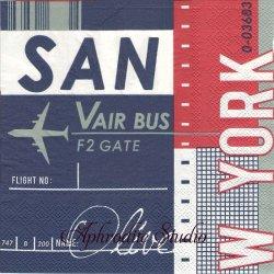 オーサムストア Flight フライト 飛行機 文字 1枚 バラ売り 33cm ペーパーナプキン デコパージュ用 紙ナプキン  AWESOME STORE