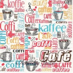 オーサムストア Coffee コーヒー 文字 1枚 バラ売り 33cm ペーパーナプキン デコパージュ用 紙ナプキン  AWESOME STORE