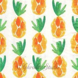 オーサムストア Pineapple 水彩のパイナップル 1枚 バラ売り 33cm ペーパーナプキン デコパージュ用 紙ナプキン  AWESOME STORE