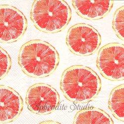 オーサムストア Pinkgrapefruit ピンクグレープフルーツ オレンジ 1枚 バラ売り 33cm ペーパーナプキン デコパージュ用 紙ナプキン  AWESOME STORE
