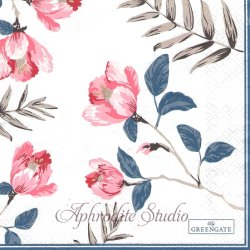 北欧 グリーン・ゲート Magnolia マグノリア 1枚 バラ売り 33cm ペーパーナプキン デコパージュ GREENGATE