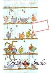 クリマ&イザ 紙袋 長型封筒 ラベルシールつき 『兎とニワトリ』Krima & Isa 1枚 バラ売り ギフトバッグ